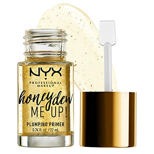 NYX Professional Makeup Primer, Honey Dew Me Up, Makeup Basis, Vegane Formel, Aufpolsternder Primer mit Honigmelone-Extrakt und Goldflocken, Strahlendes Finish, 20 ml