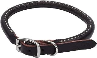 Coastal Pet Products DCP220314 Leather Latigo Round Dog Collar, 3/8 by 14-Inch