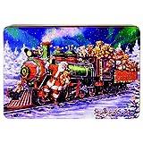 Grandma Wild's - Decoraciones de tren de Papá Noel en relieve de lata de metal con una variedad de galletas de jengibre, frutas y limón, chocolate, 1 x 336 gramos