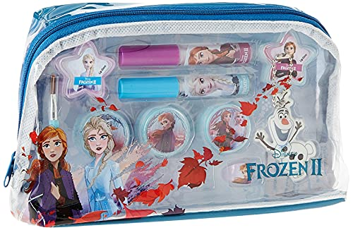 Frozen Essential Makeup Bag - Neceser Frozen II, Set de Maquillaje para Niñas - Maquillaje Frozen - Selección de Productos Seguros en un Estuche Muy Moderno