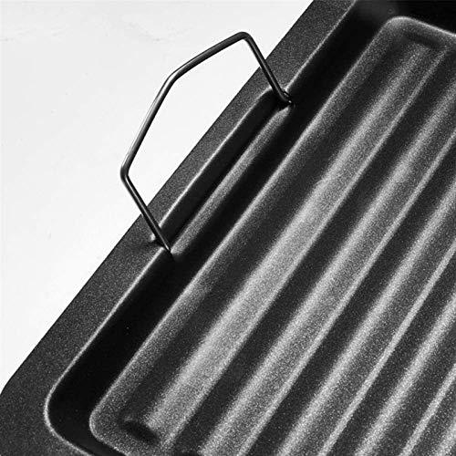 51E37q4sriL - Bratpfanne Non-Stick Antihaft Gusseisen Griddle Pan Barbecue Plate Rechteckige Backformen Grillende Fach Grill Bratpfanne im Freien Grill Zubehör