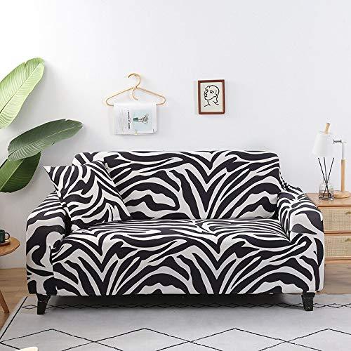 WXQY Funda de sofá con patrón geométrico Funda de sofá elástica Funda de sofá de Sala de Estar en Forma de L sofá de Esquina Toalla sillón Funda de sofá A6 1 Plaza