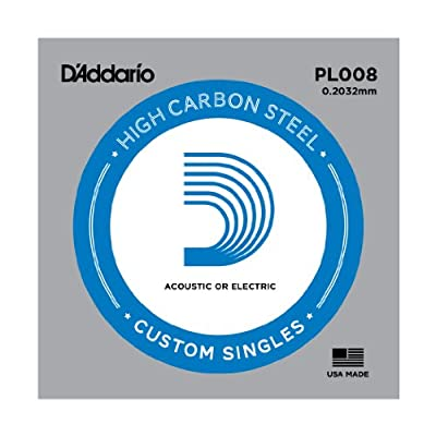 D'Addario Plain Steel Guitar Single String