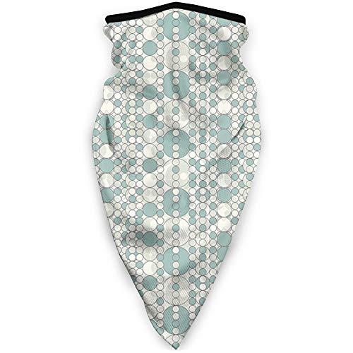 MLNHY - Funda para la cara a prueba de viento, círculos abstractos unidos con formas geométricas redondas en tonos suaves difuminados, decoración facial impresa para todos