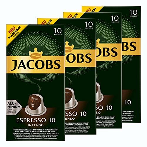Jacobs Espresso 10 Intenso, Kaffeekapseln, Nespresso Kompatibel, Kaffee, 40 Kapseln, á 5.2 g