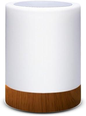 Lampara decorativa tactil con luz LED de colores para mesa, sobremesa o mesilla de noche | Lamparita RGB pequeña y recargable, de diseño moderno para decoracion de jardin, terraza, salon o habitacion: