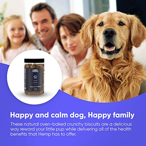 Product Image 2: Happy Garden New Hemp Biscuit Treats For Dogs – Reducing Anxiety & Aggressive Behaviour – Result of Storms, Fireworks & Abandonment 200mg