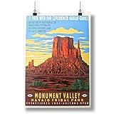 Monument Valley Arizona Retro USA Art A0 A1 A2 A3 A4 Satin