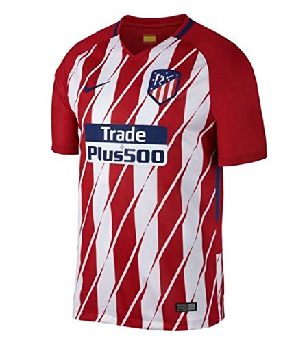 Nike 2017/18 Atlético de Madrid Stadium Home Camiseta de Manga Corta, Hombre, Rojo (Sport Red/White/Deep Royal Blue), 2XL
