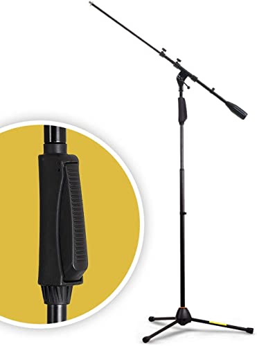 Hola! Music HPS-150TB Professional Tripod Microphone Stand with One-Hand Height Clutch and Telescopic Boom, Black
