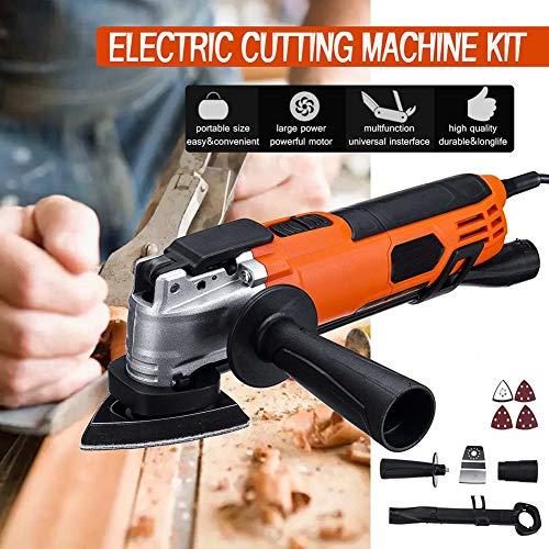 300W Multi-Function Oscillating Tool Kit, Electric Woodworking Cutting Machine Wood Laminator Cutter...