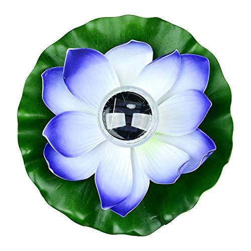 Lychee Solarbetriebene Lotus Laterne,Solarlampen für außen,Wasserdichte LED Garten Pool Licht,Künstliche Lotus Seerose Licht für Garten Hof, Schwimmbad, Brunnen und Aquarien (Lila)