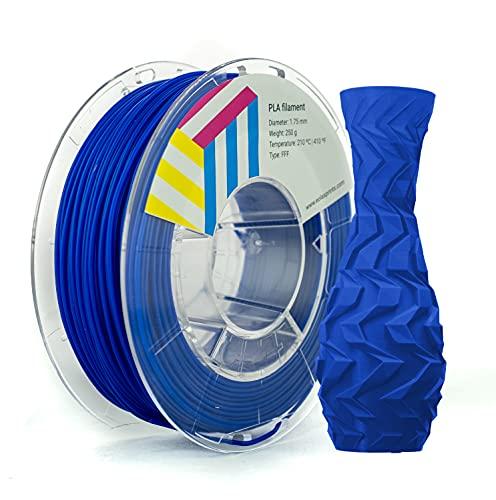 Eolas Prints | Filamento PLA 1.75 | Stampante 3D | Made in Europa | Adatto per l uso con alimenti e creare giocattoli | 1,75 mm | 250g | Blu