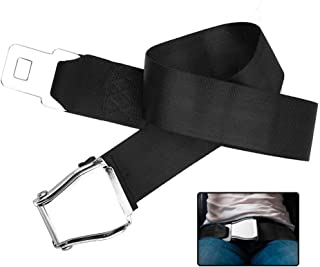 Adjustable 25-80 CM Commercial Plane Airline Seat Belt Extension Buckle Airplane Seat Belt Extender Type A Fits Most Airplane Adjustable Aircraft Safety Belt for Travel