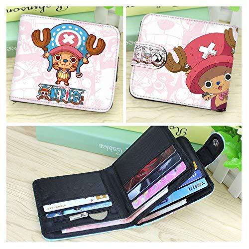 pZgfg Anime Purse Wallet Brieftasche Student Pu One Piece-Chopper