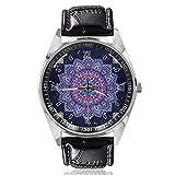 Mandala Floral - Reloj de pulsera para mujer, diseño clásico, sencillo y moderno, diseño de mandala