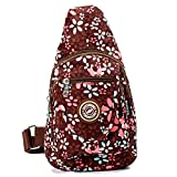 Travel Crossbody Sling Bags For Women Single Waterproof Sling Shoulder Backpack For Kids Girl - Rosered