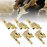 Clavijas de guitarra acústica duraderas, para guitarristas Volkswagen, color dorado