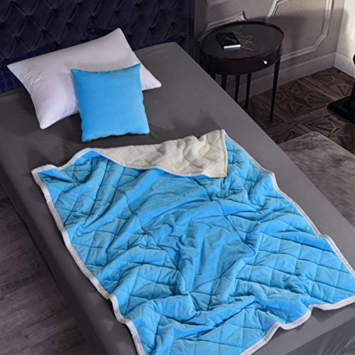 Stafeny Colcha multifuncional de terciopelo de cristal, suave y esponjosa, cálida manta de terciopelo de cordero, adecuada para varias ocasiones