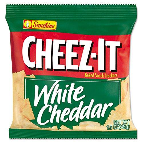 Sunshine KEB12653 Cheez-It White Cheddar Snack Crackers, 1.5 oz., 8 Bags/Box