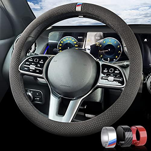 AOLEAD Coprivolante Auto, Antiscivolo e Traspirante Coprivolante Universale per Auto con Volante 37-38 CM Diametro