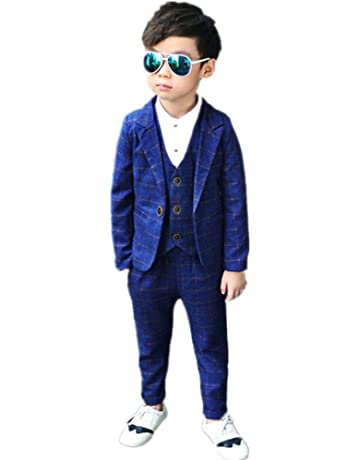 9e14a1a79e36a (チェリーレッド)CherryRed 男の子 チェック柄 かっこいい フォーマル スーツ 3点セット