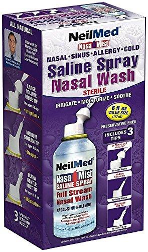 Neil Med NASA Mist Multi Purpose Saline Spray All in One, 6 Fl Oz (Pack of 6)