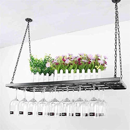 Wijnliefhebber bar meubel & ketting Home bar meubel Wine Rack metaal hangende wijnglas plafondhouder zwart wijnfles bril glazen rack kelk rek retro bar decoratie rek