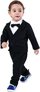 Baby Boys Gentleman Sets Blazer and Pant and Long Sleeve Shirt 3pcs Leisure Suit