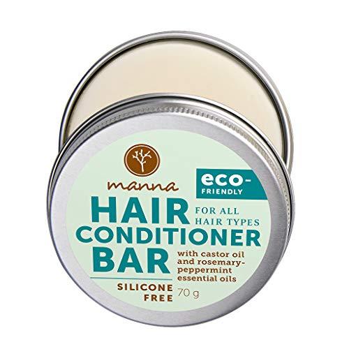 Manna Fester Conditioner | mit Rizinusöl sowie ätherischem Rosmarin- und Pfefferminzöl | Sanft zum Haar – sanft zur Umwelt | Manna Natural Cosmetics