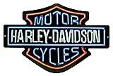 Harley-Davidson Neon Design Embossed Bar & Shield Tin Sign, 19 x 12 in 2011381