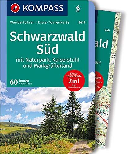 KV WF 5411 Schwarzwald Süd m. Karte: Wanderführer mit Extra-Tourenkarte 1:75.000, 60 Touren, GPX-Daten zum Download. (KOMPASS-Wanderführer, Band 5411)