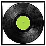Marco de funda cuadrado para colgar en pared, ideal para álbum de vinilo, cuadrado, 30cm, color negro