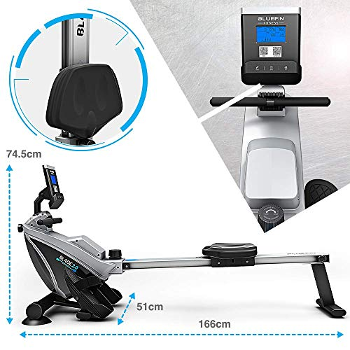 Bluefin-Fitness-BLADE-Home-Gym-Foldable-Rowing-Machine-Magnetic-Resistance-Rower-Kinomap-Live-Video-Streaming-Video-Coaching-Training-LCD-Digital-Fitness-Console-Smartphone-App