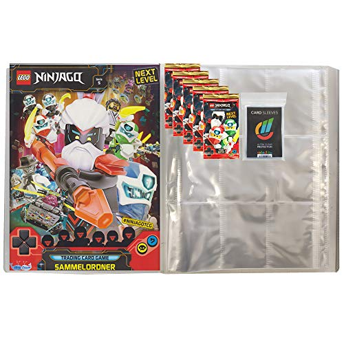 Next Level Lego Ninjago 5 Trading Cards - 1 Leere Sammelmappe + 5 Booster + 40 Collect-it Hüllen Sleeves