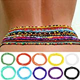 ELABEST Fashion Beads Waist Chain African Belly Bead Body Chain Beach 10Pcs Waist Jewelry Summer Body Accessories for Women Loss Weight (pure color)