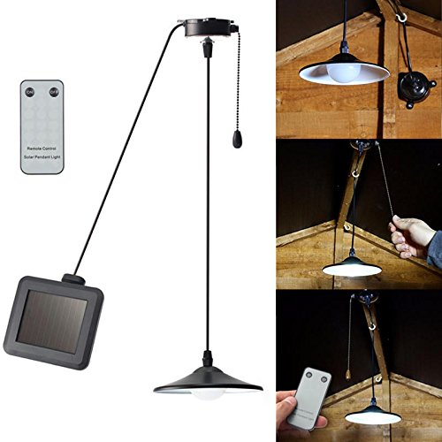 Bazaar Lampe solaire à suspendre au plafond avec télécommande