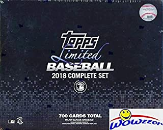 2018 Topps LIMITED Baseball MASSIVE 700 Card EXCLUSIVE Limited Edition Factory Set! Less than 1,000 Sets made! Includes all Cards from Series 1 & 2! Cards Printed on 24pt Tiffany Card Stock! WOWZZER!