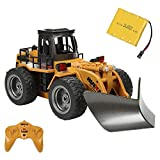 Bohisen Diecast Snow Plow RC Truck 6 Channel 2.4G Alloy Snow Sweeper Engineering Vehicle 4WD Tractor Toy with Lights for Kids