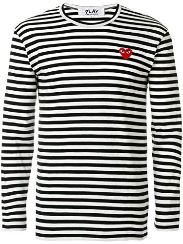 Comme des Garçons Luxury Fashion Play Herren P1T1641 Weiss Baumwolle T-Shirt | Frühling Sommer 20