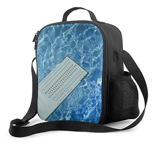 Bolsa de almuerzo con aislamiento para piscina, reutilizable, para el almuerzo, para hombres y mujeres, mochila de 25 x 20 x 10,5 cm