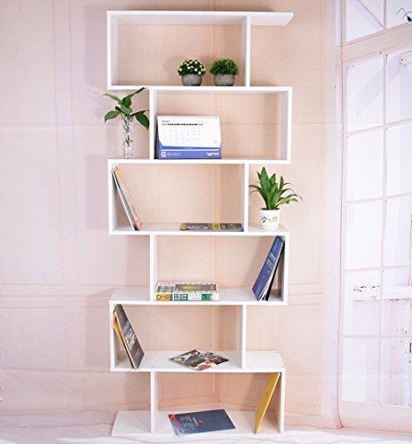 Panana Bücherregal mit 6 Ebenen Treppenregal 192* 80 * 23.5 cm Regal Bücherschrank Universal Regal...