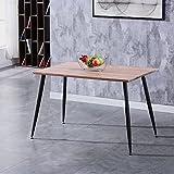 GOLDFAN Esstisch Holz Küchentisch Rechteckiger Modern Wohnzimmertisch Holztisch für Büro Küche...