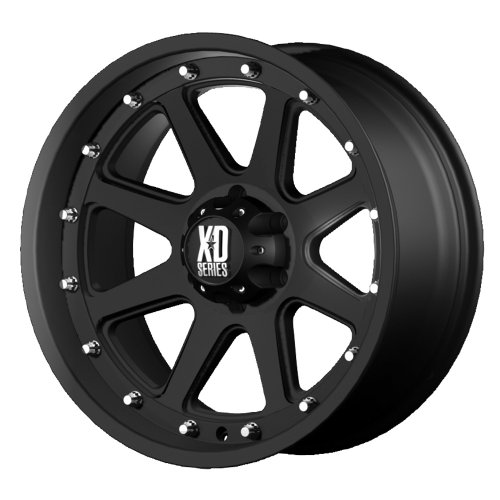 XD Series by KMC Wheels XD798 Addict Matte Black Wheel (17x9'/5x127mm, -12mm offset)