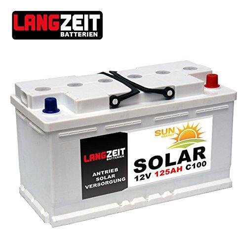 Versorgungsbatterie 12V 125Ah Marine Boot Antrieb Wohnmobil Solar Batterie 100AH 115AH 120AH