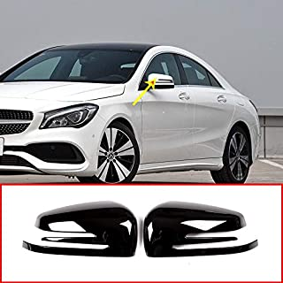 ABS Chrome Plastic Side Rearview Mirror Cap Cover Trim Gloss Black for Mercedes Benz A W176 B W246 C W204 E W212 CLA w117 CLS w218 GLK X204 GLA Class X156