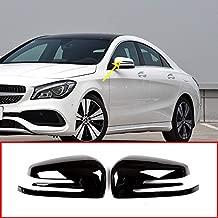 ABS Chrome Plastic Side Rearview Mirror Cap Cover Trim Gloss Black for Mercedes Benz A W176 B W246 C W204 E W212 CLA w117 CLS w218 GLK X204 GLA Class X156