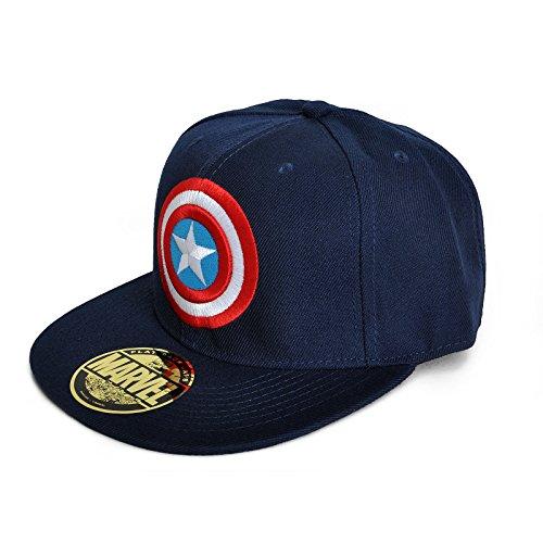 Original bD marvel captain america flat lOGO bleu marine