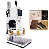 Upgraded Hot Foil Stamping Machine 10x13cm Leather Bronzing Pressure Mark Machine 110V wit...