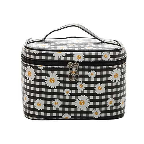 HOYOFO Large Makeup Bag Travel Cosmetic Bags With Makeup Brush Holder Waterproof Portable Toiletry...
